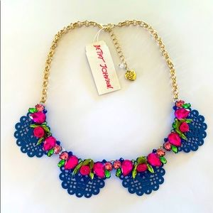 New Betsey Johnson Day of the Dead Skull Necklace